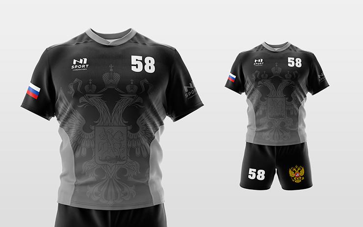 cd4c5410f Форма для каждой команды производится в индивидуальном дизайне с включение  логотипов, номеров и фамилий игроков. В базовый комплект входит футболка  или ...